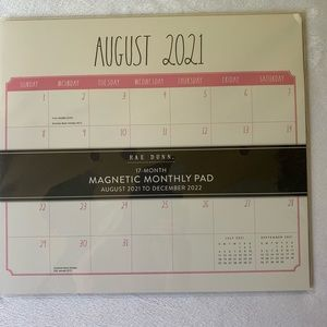 Rae Dunn Magnetic Calendar With Pink